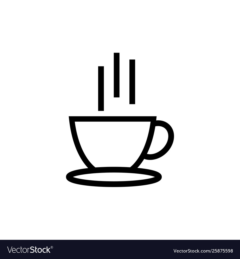 Hot coffee icon design template isolated