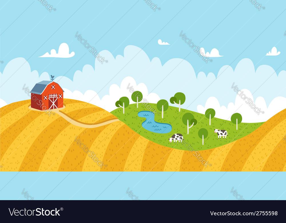 Seamless rural landscape
