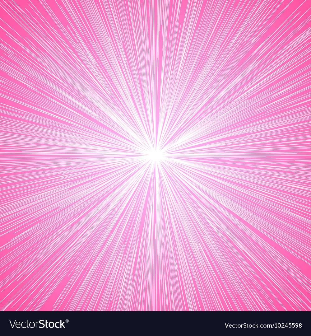 Sun burst blast background pink