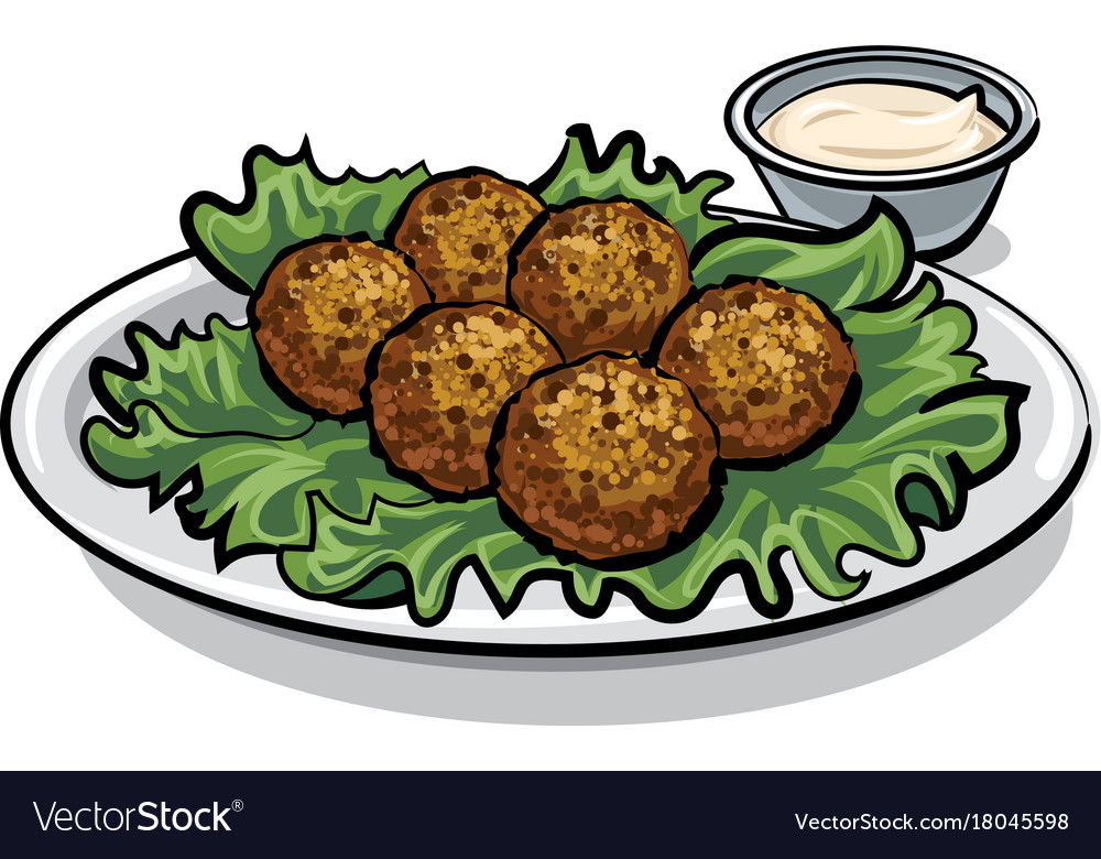 Traditional falafel with lettuce