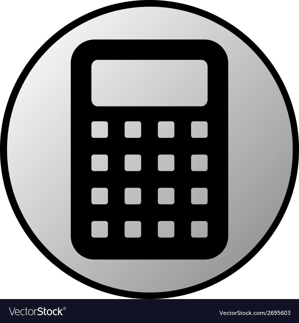calculator button royalty free vector image vectorstock