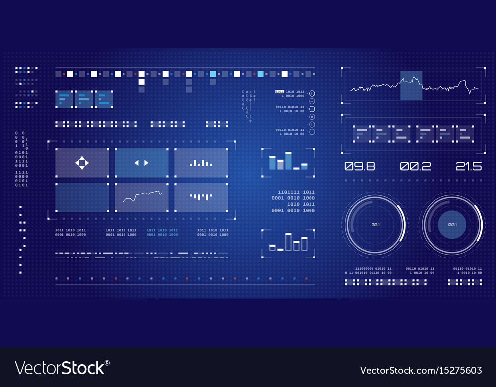 Futuristic user interface spaceship screen