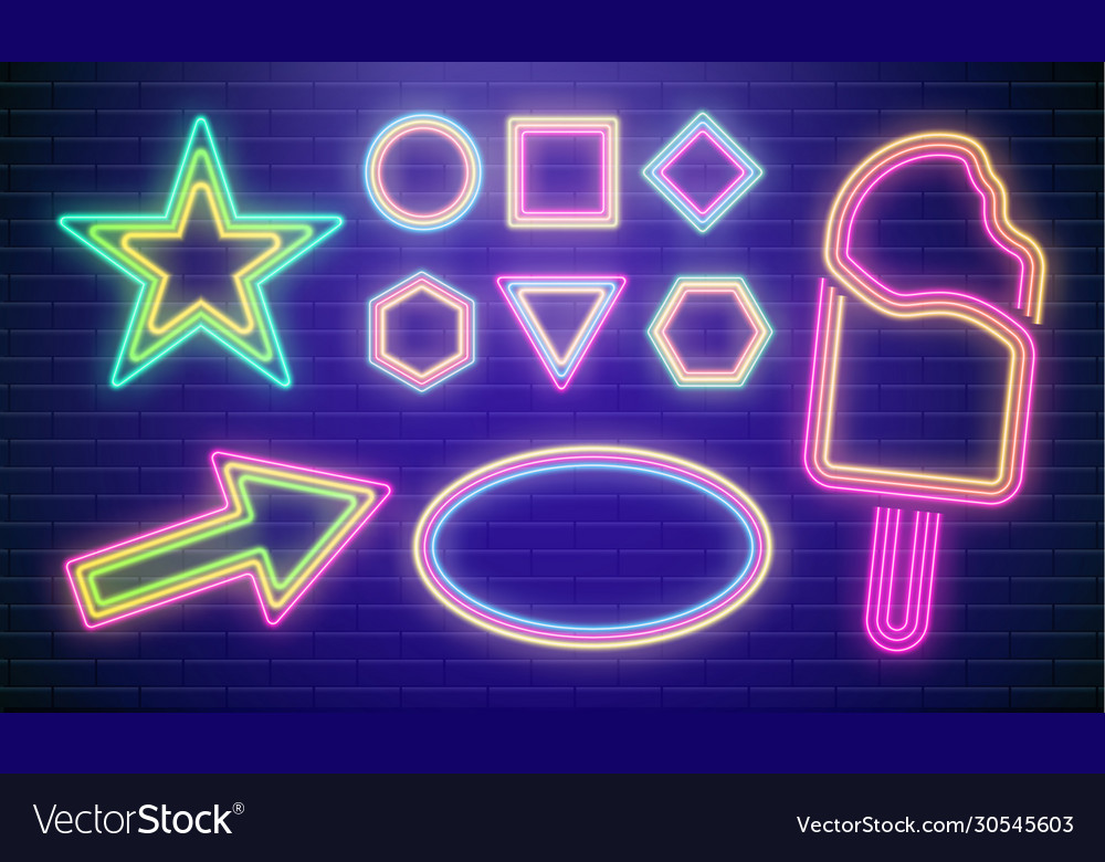 Led neon star colorful disco party sign