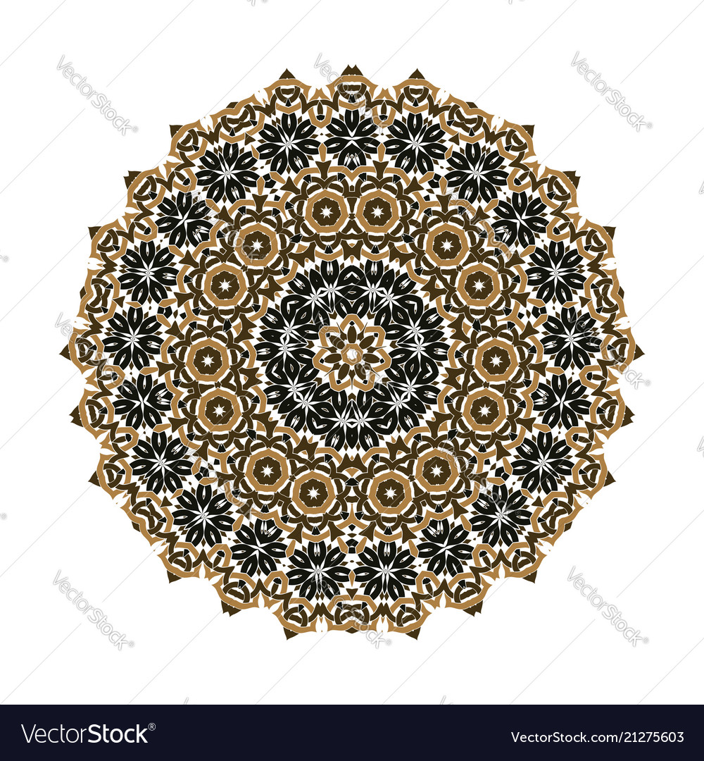 Mandala ornament background round vintage