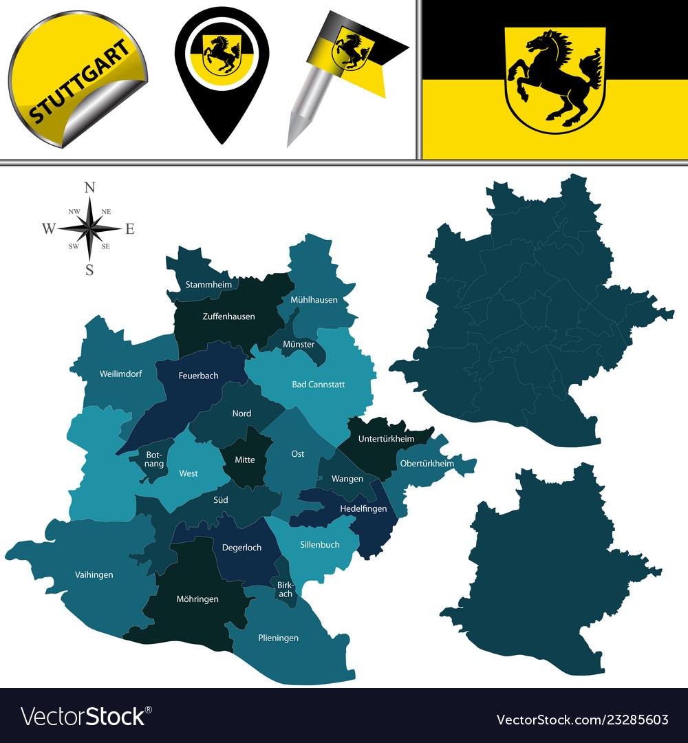 Stuttgart Map Of Germany.Map Of Stuttgart Germany