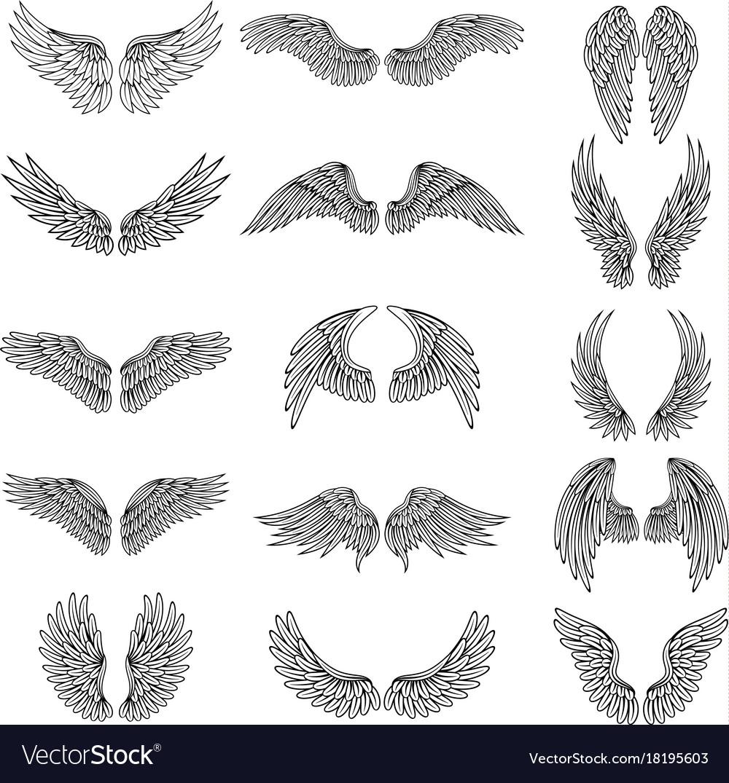 Monochrome set of different stylized