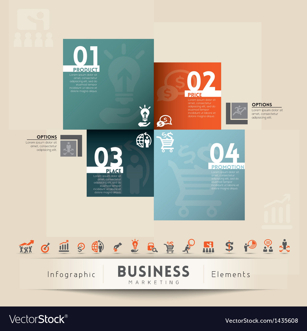 Business Marketing Concept Graphic Element vector image