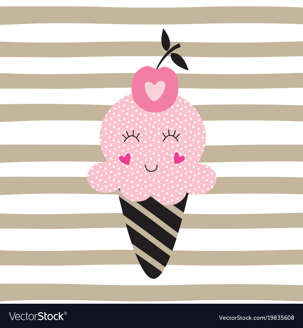 Cute with funny ice cream