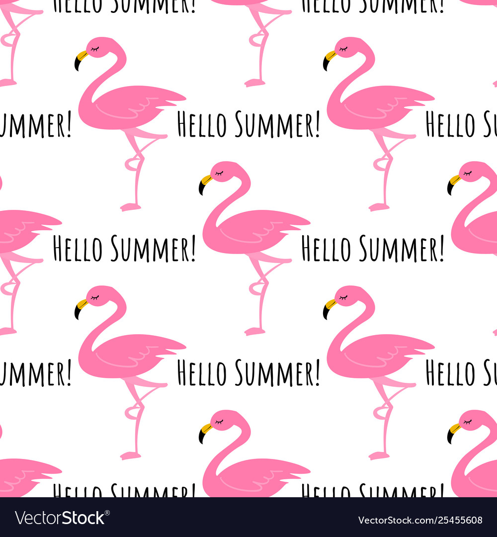 Flamingo seamless pattern background