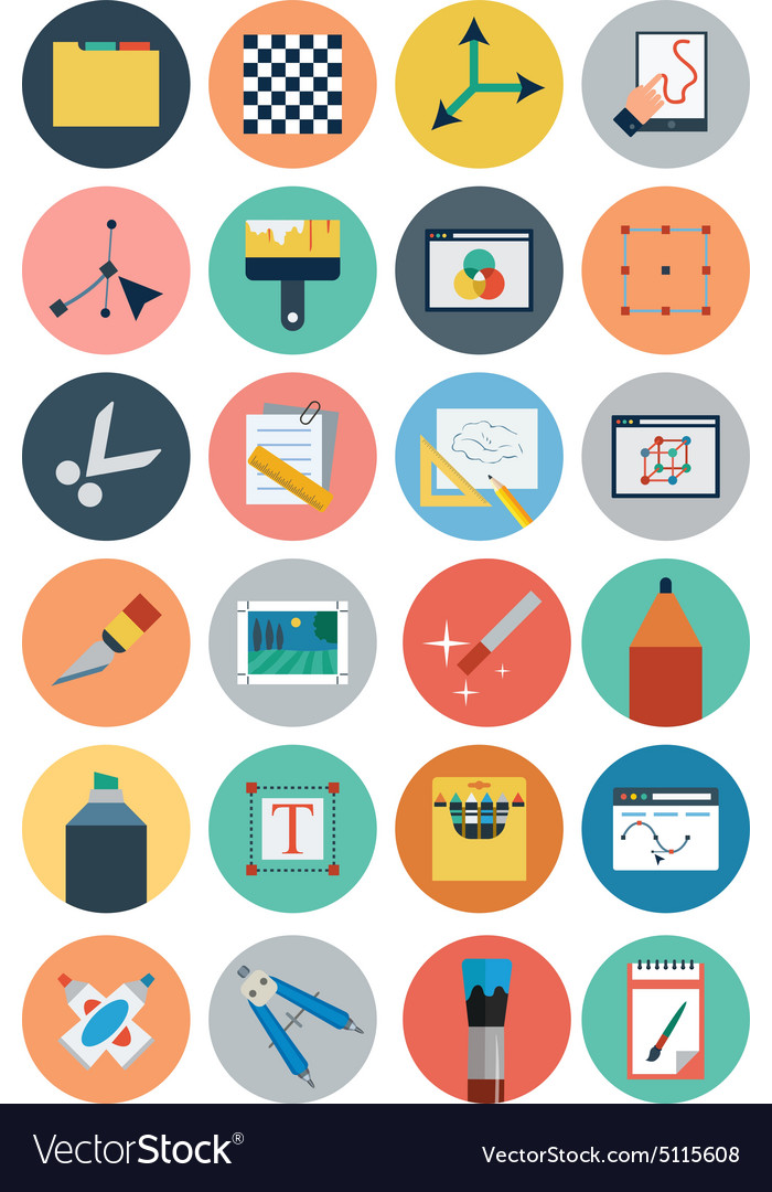 Flat Design Icons 5 vector image