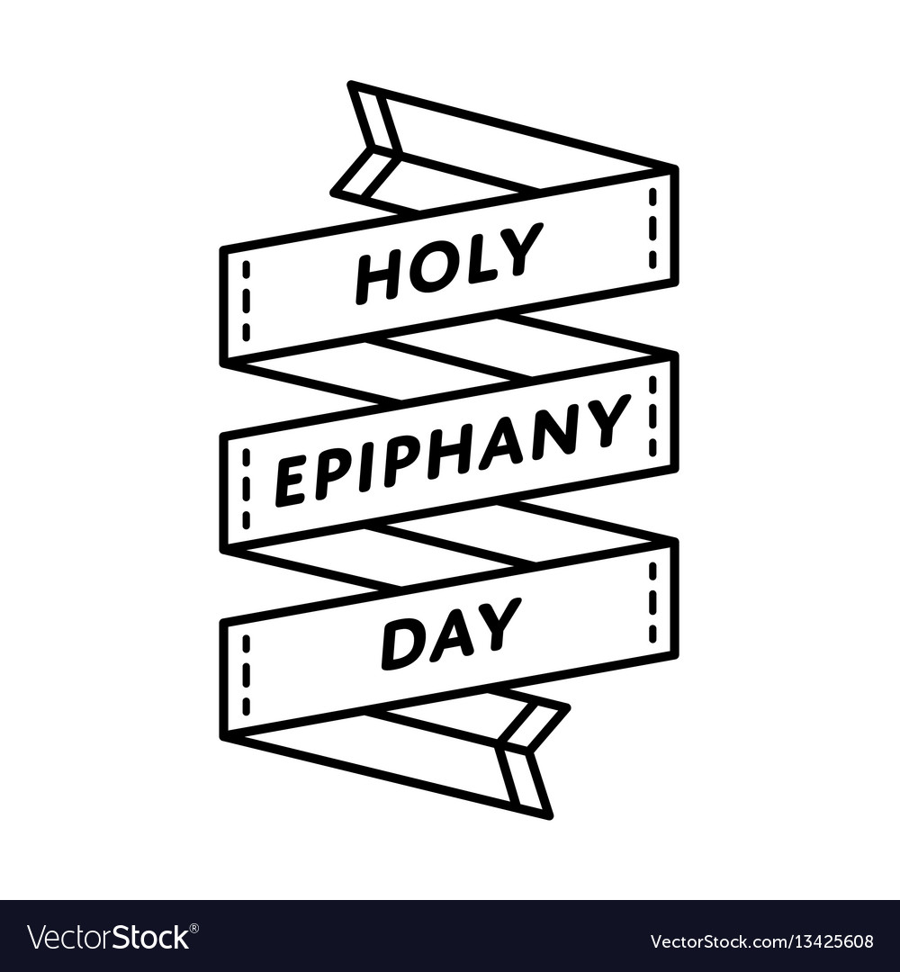 Holy epiphany day greeting emblem