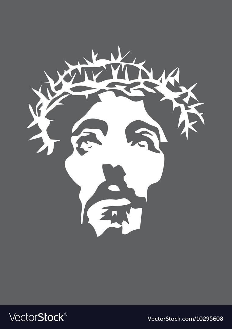 Jesus Christ face Silhouette