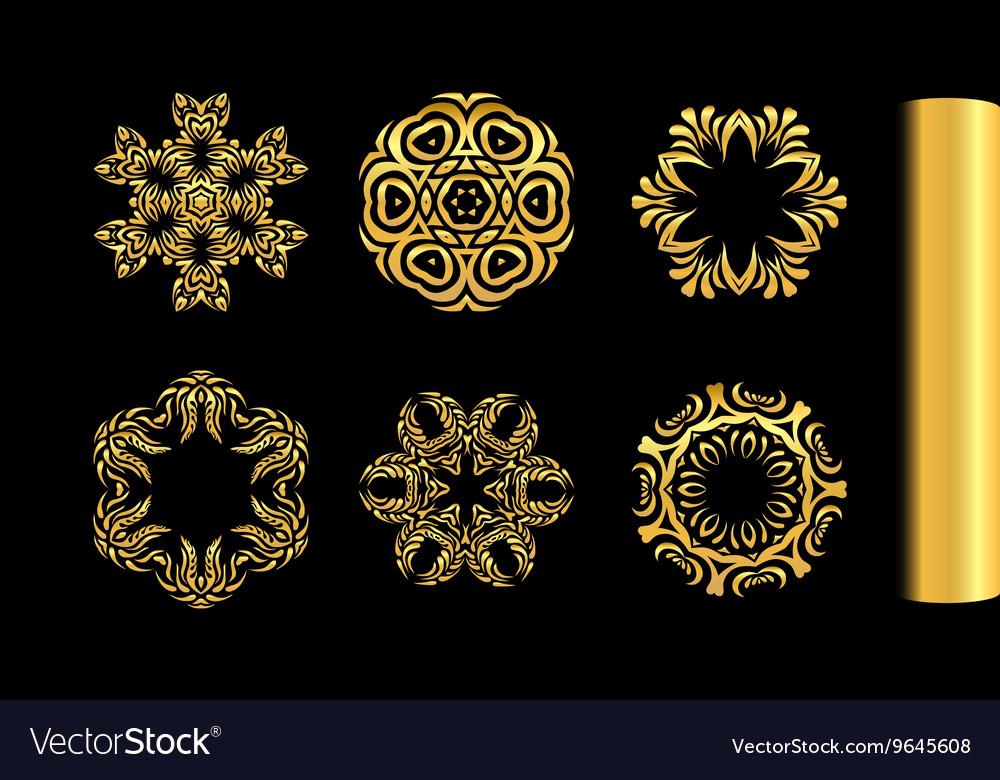 Ornamental gold round lace design