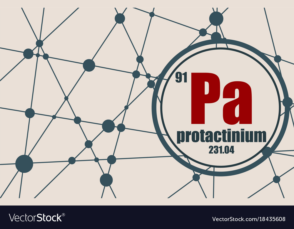 protactinium chemical element vector 18435608 protactinium chemical element royalty free vector image