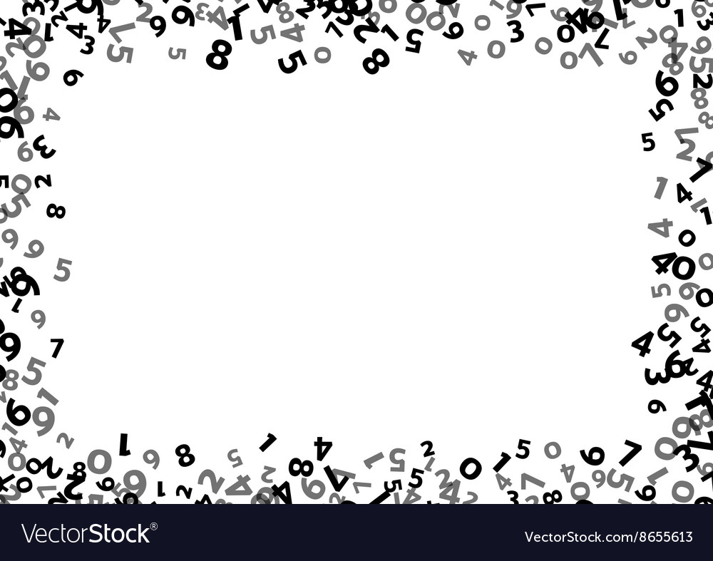 abstract math number background royalty free vector image
