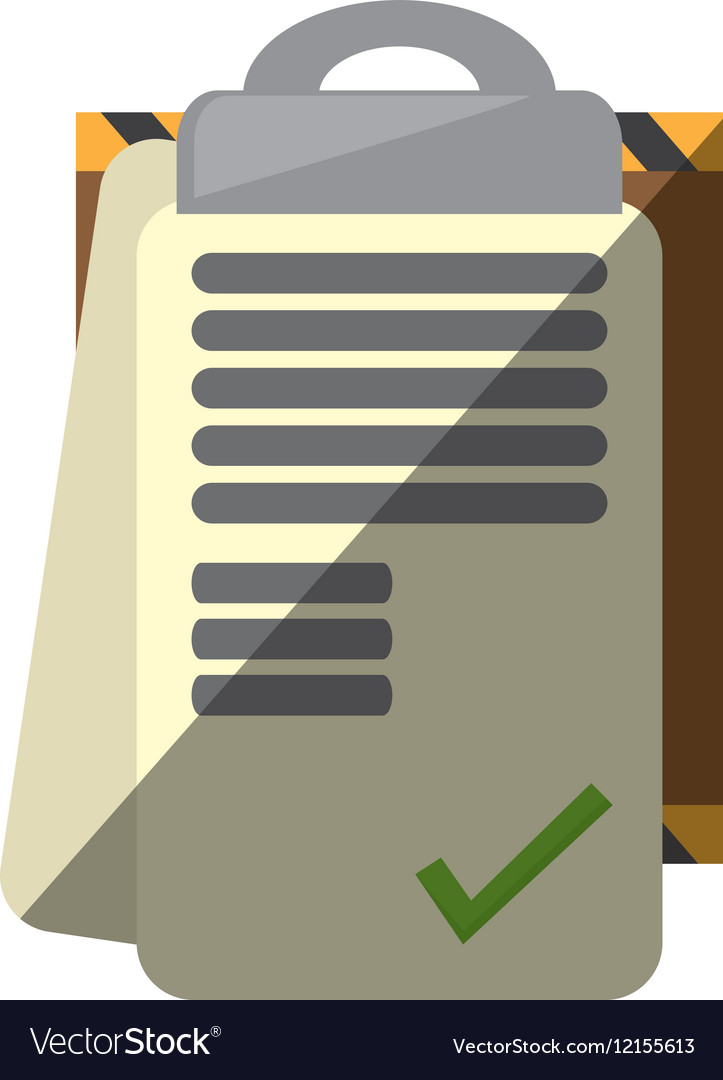 Clipboard check list delivery report shadow vector image