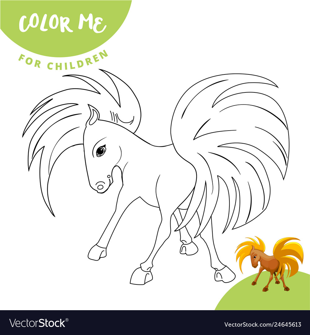Coloring Pages Farm Animals Cute Horse Smiles