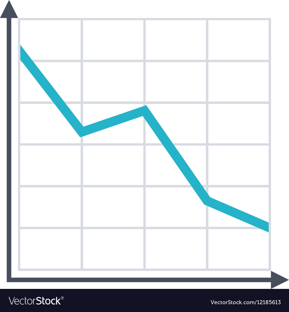 Decline Chart Icon vector image