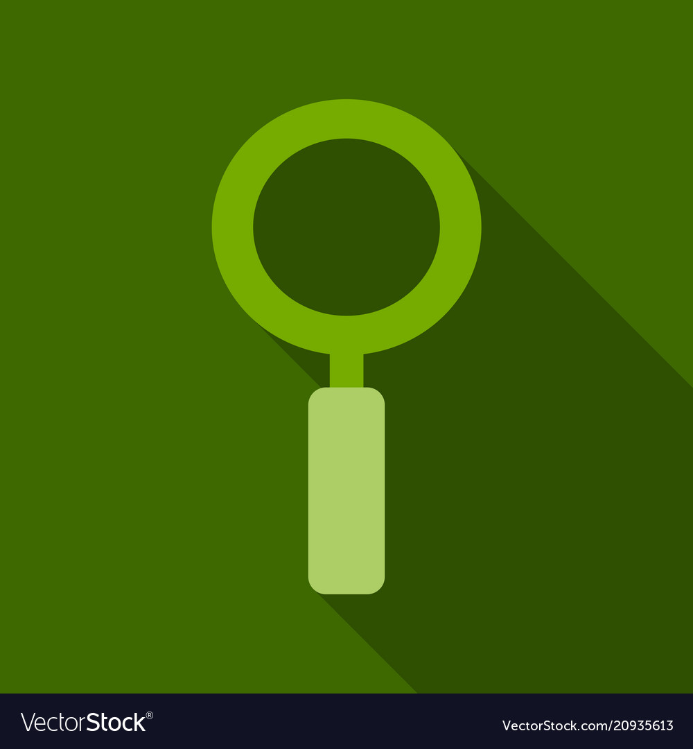 Magnifying glass icon flat style for search focus