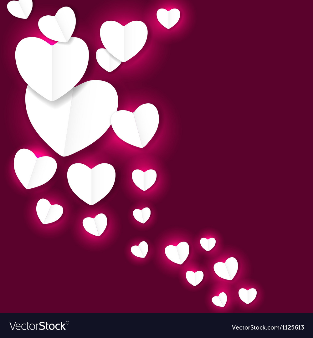 Valentines day paper heart backgroung
