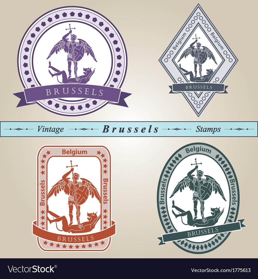 Vintage stamp Brussels