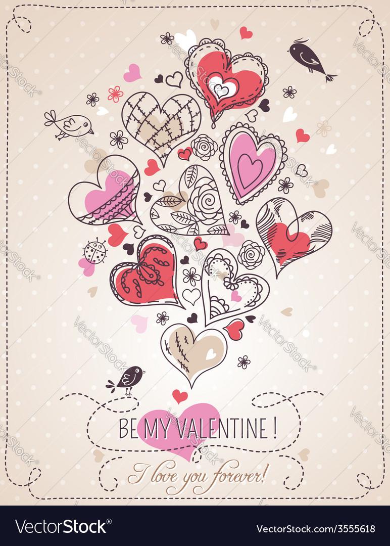 Background with valentine heart