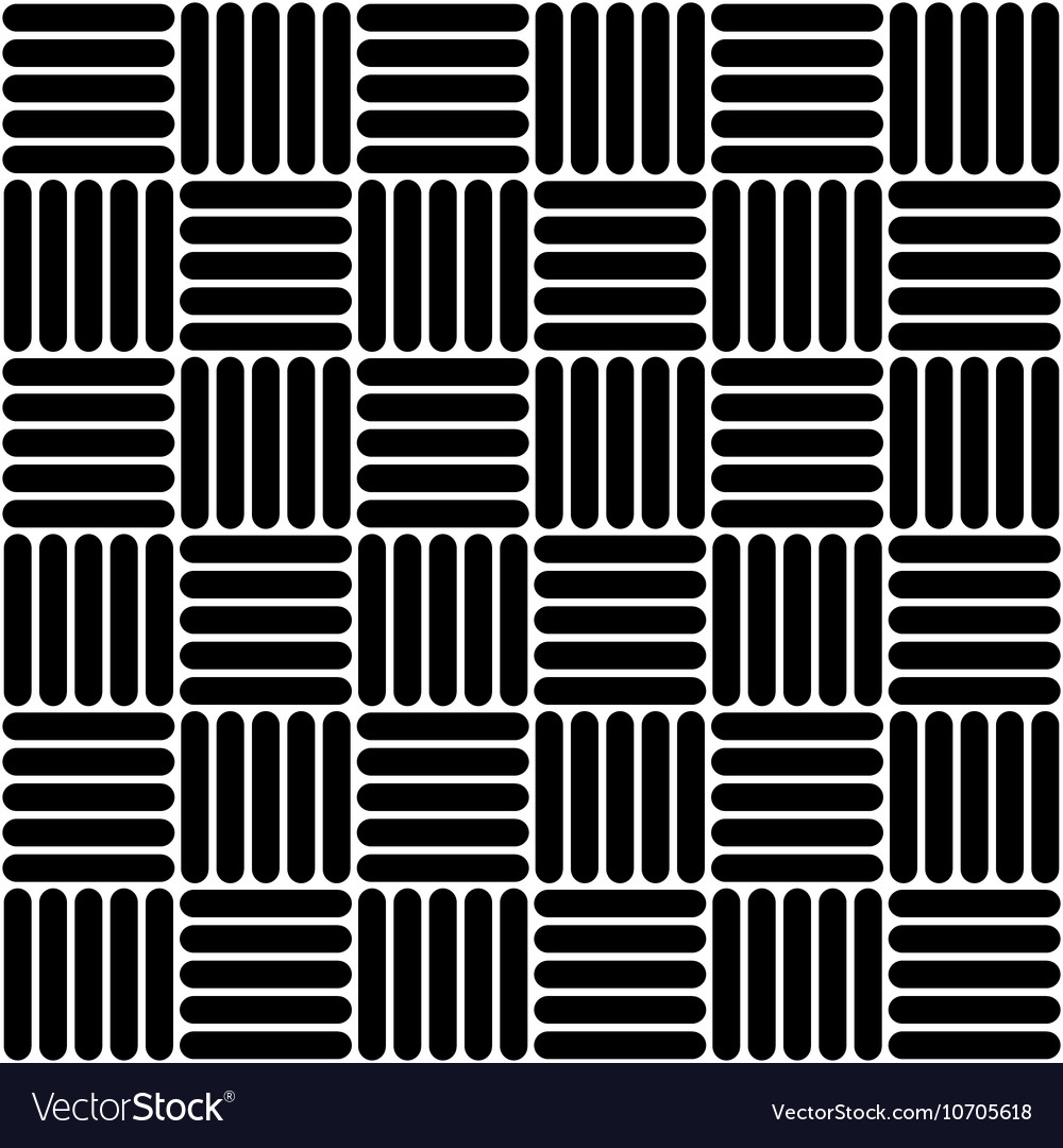 Black and white simple woven geo seamless pattern