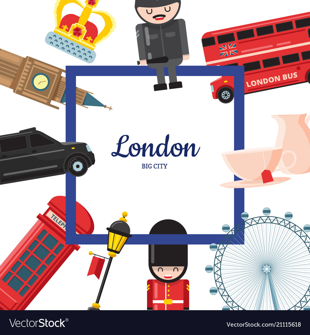 Cartoon london sights
