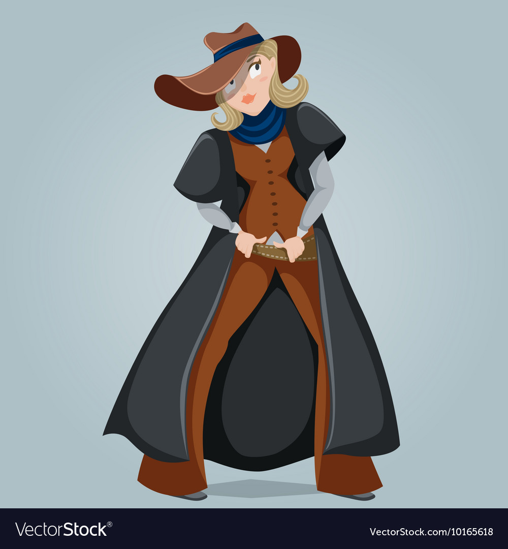 cowgirl funny cartoon character royalty free vector image rh vectorstock com Chinese Cartoon Character From the 70s List Chinese Cartoon Character From the 70s List