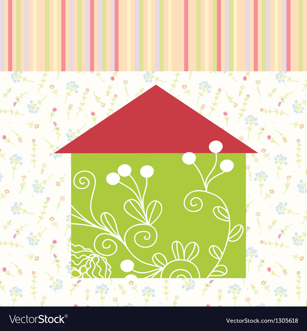 Green house floral background