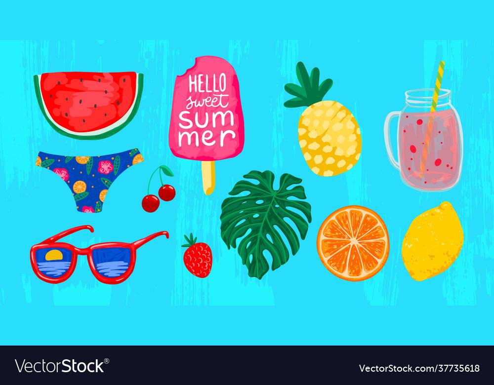 Summer drawings watermelon