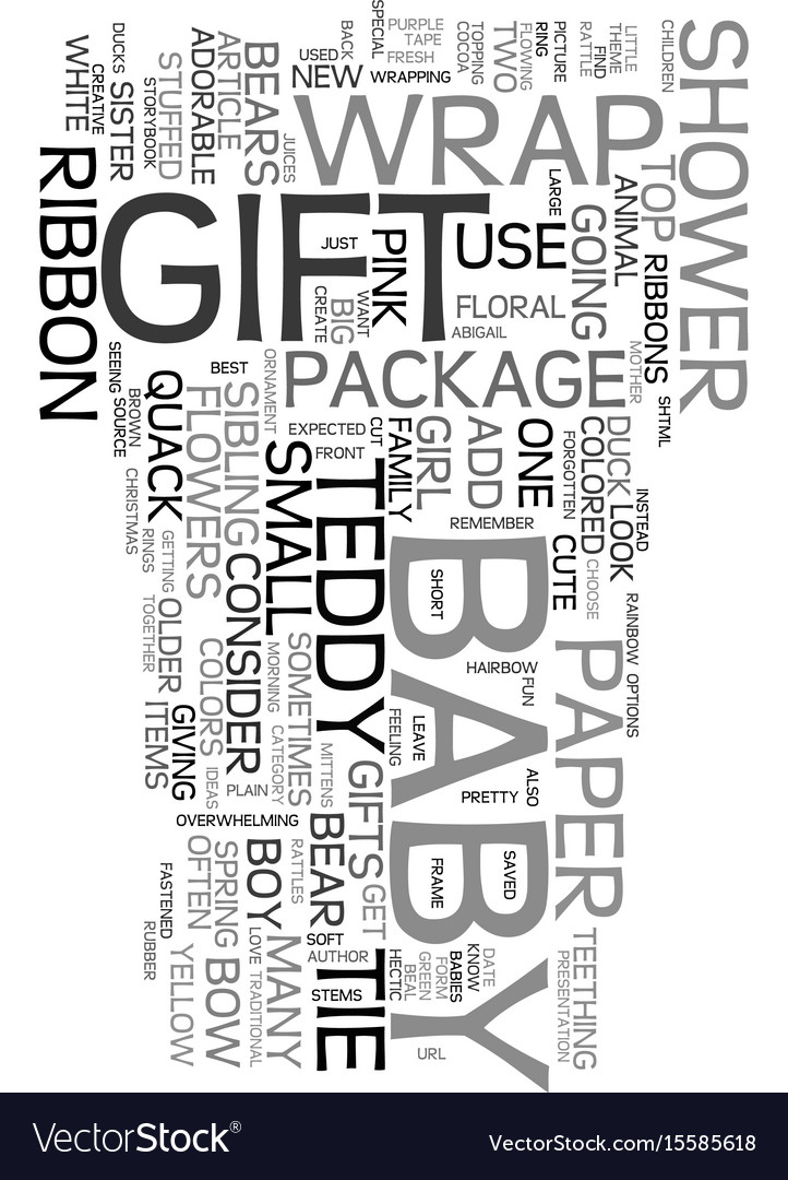 Wrap Adorable Baby Shower Gifts Text Word Cloud Vector Image
