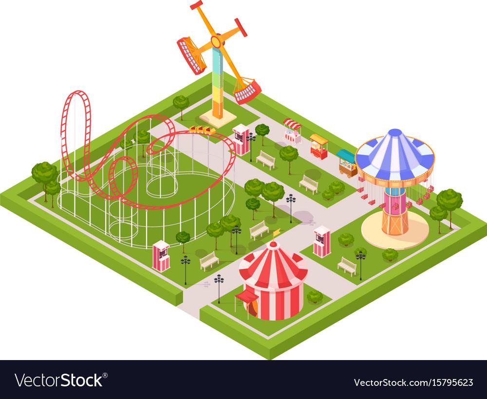 Amusement park design composition