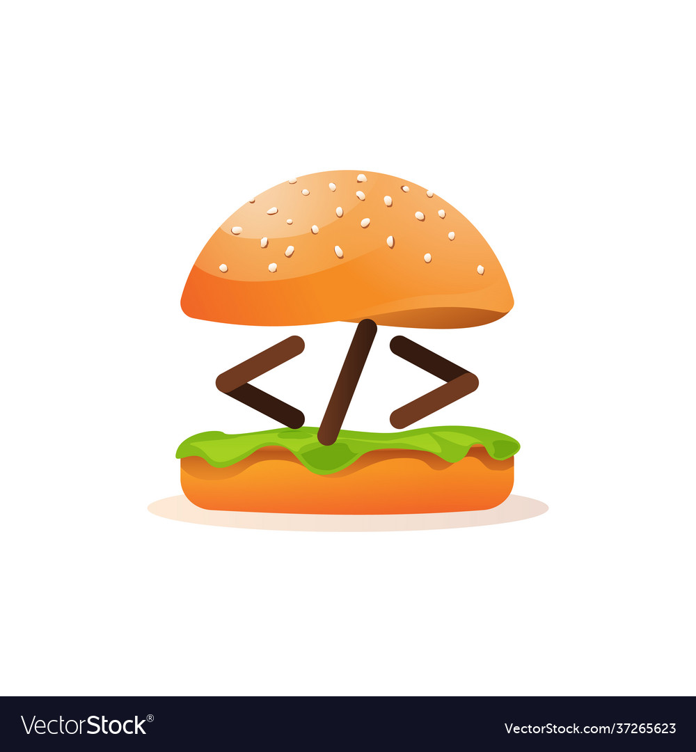 Coding and programming learning icon burger