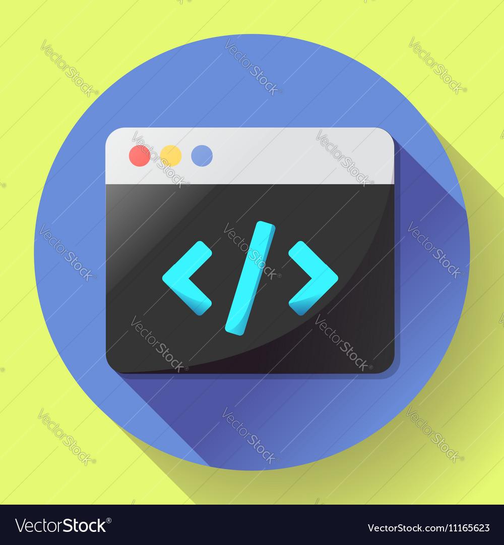Coding icon flat program app