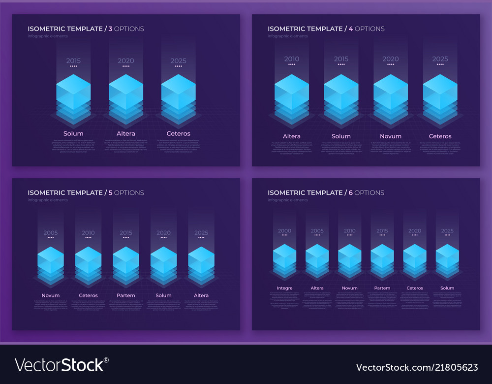 Designs with isometric elements templates