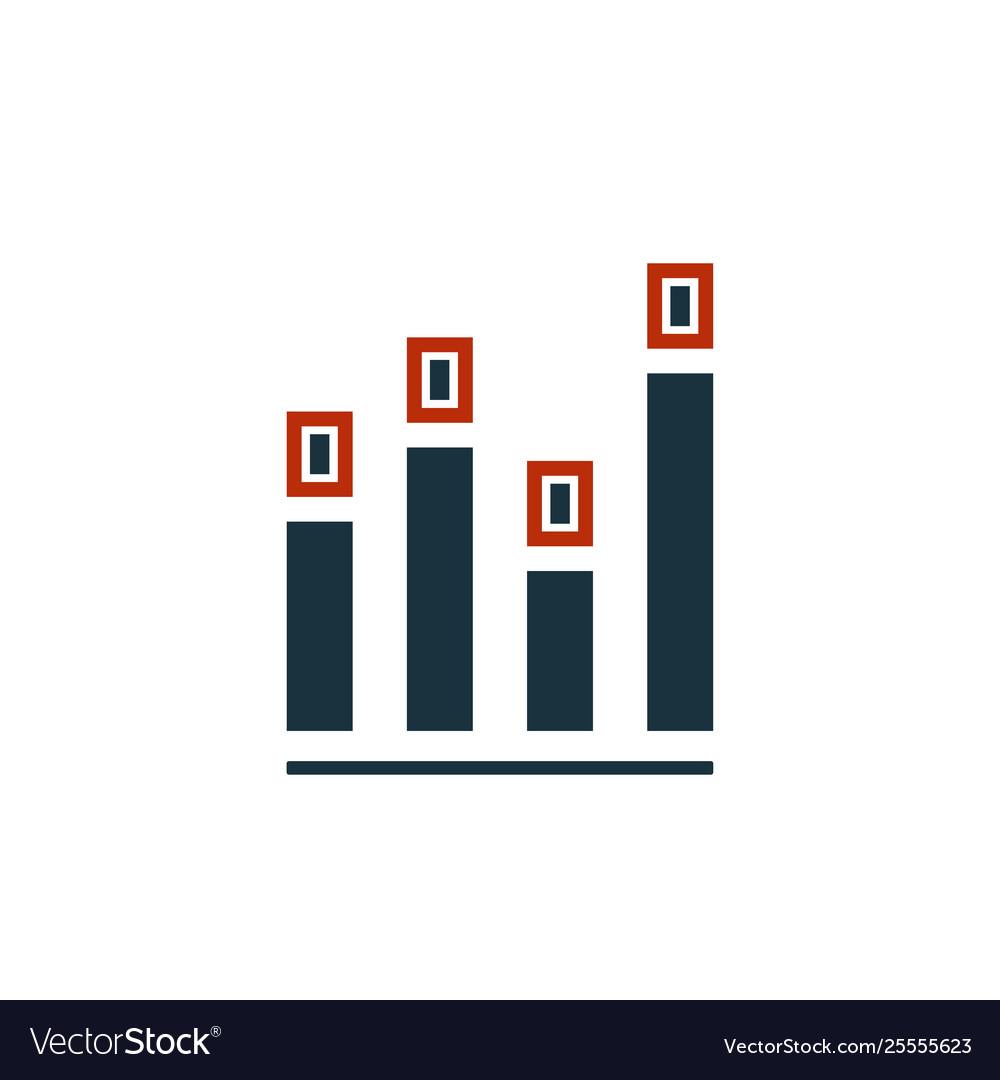 Diagram icon creative symbol in two colors pixel