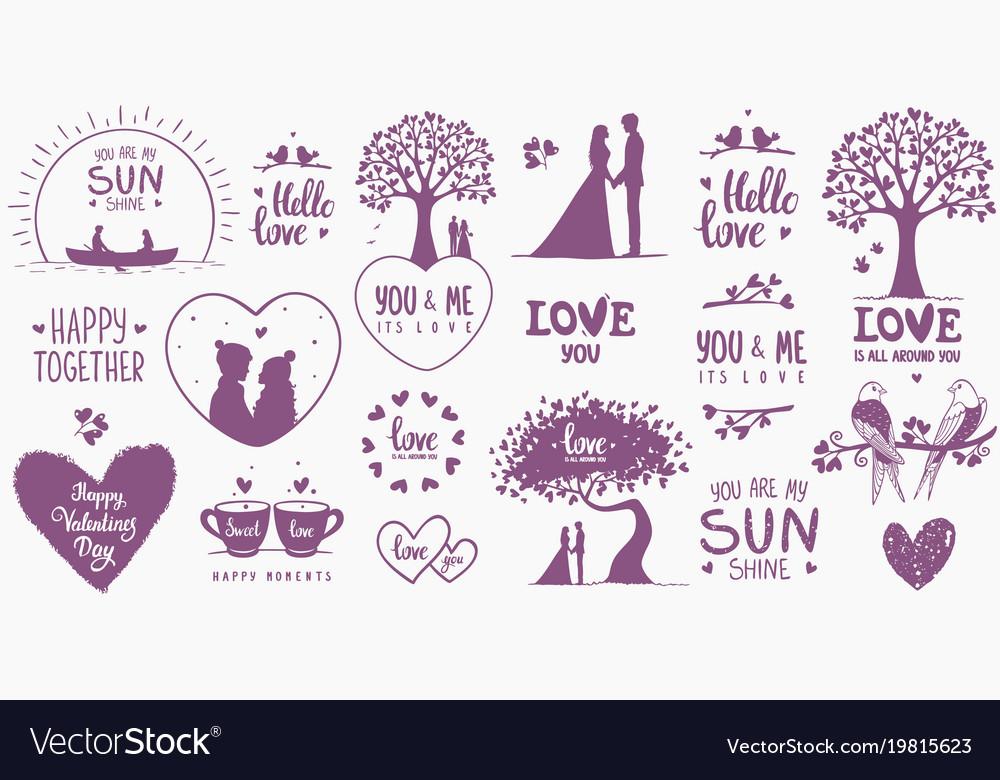 Elements design valentines day