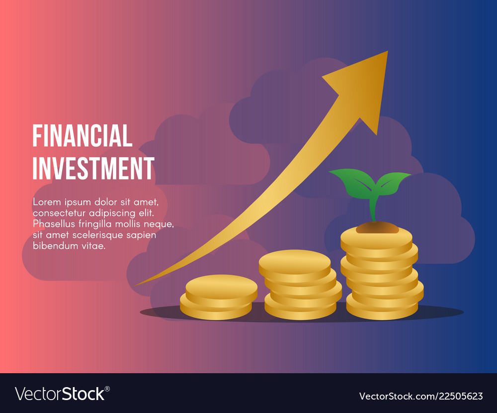 Financial investment concept design template Vector Image