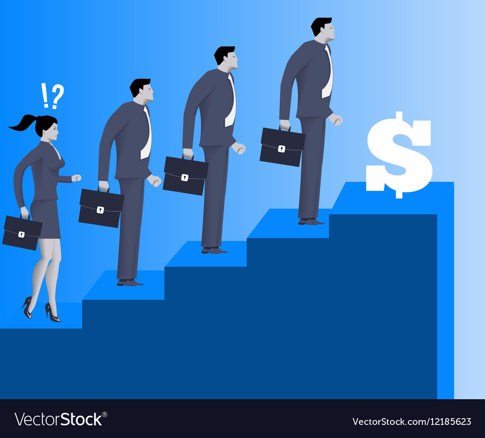 Gender inequality on career ladder vector image