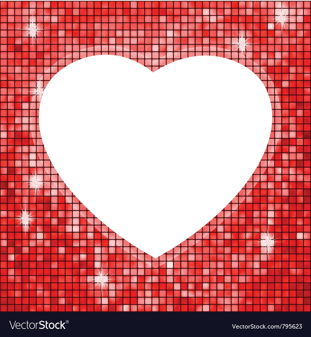 Heart shaped frame vector image