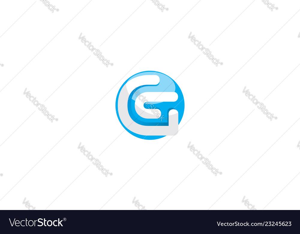 Initial g digital logo icon