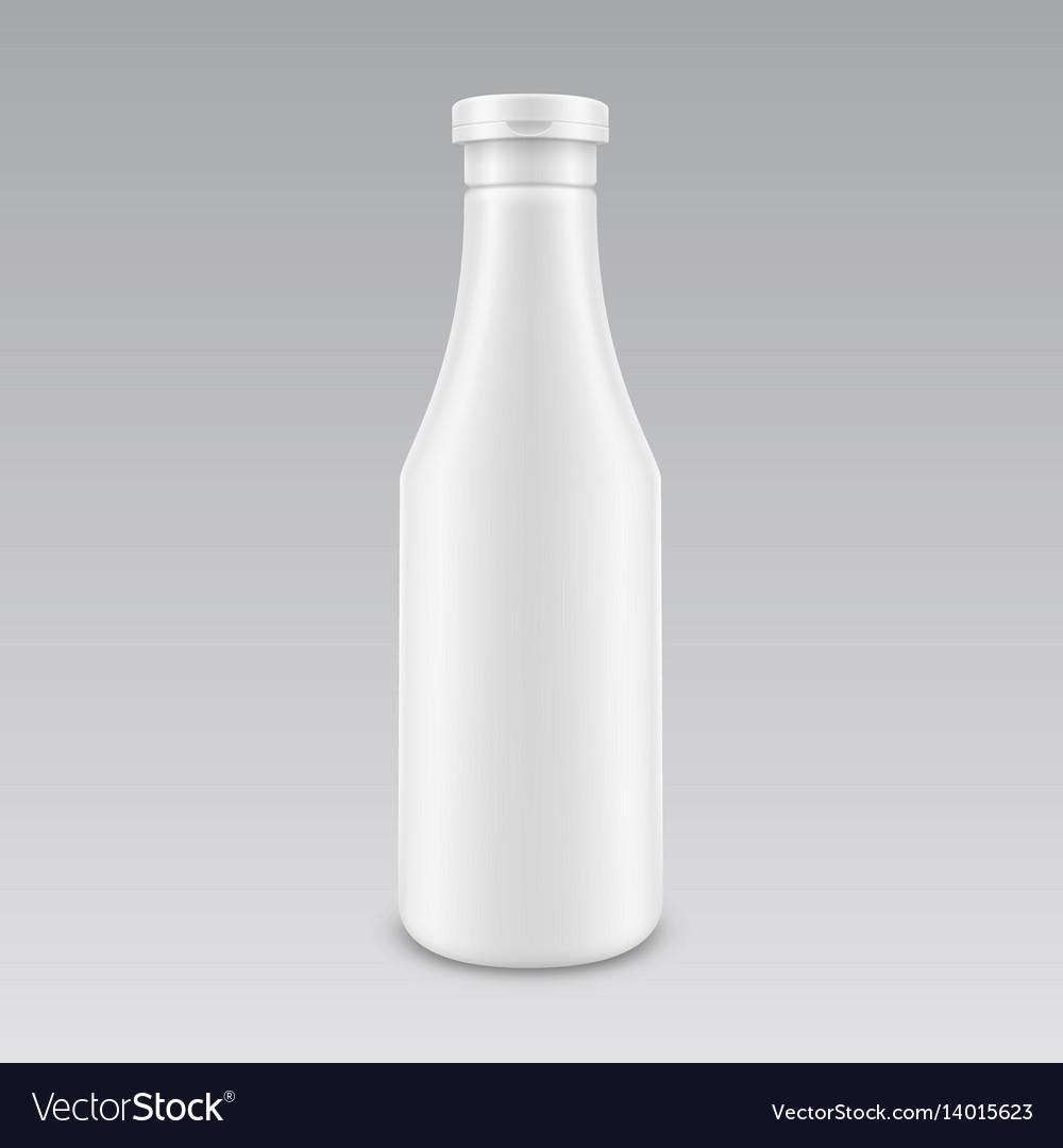 Plastic white mayonnaise mustard ketchup bottle