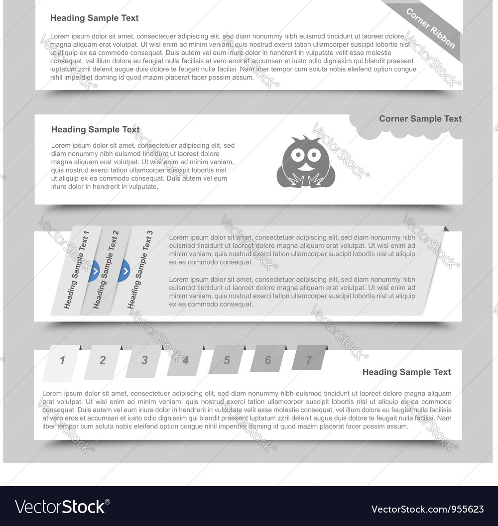 Web Banners and Sliders vector image