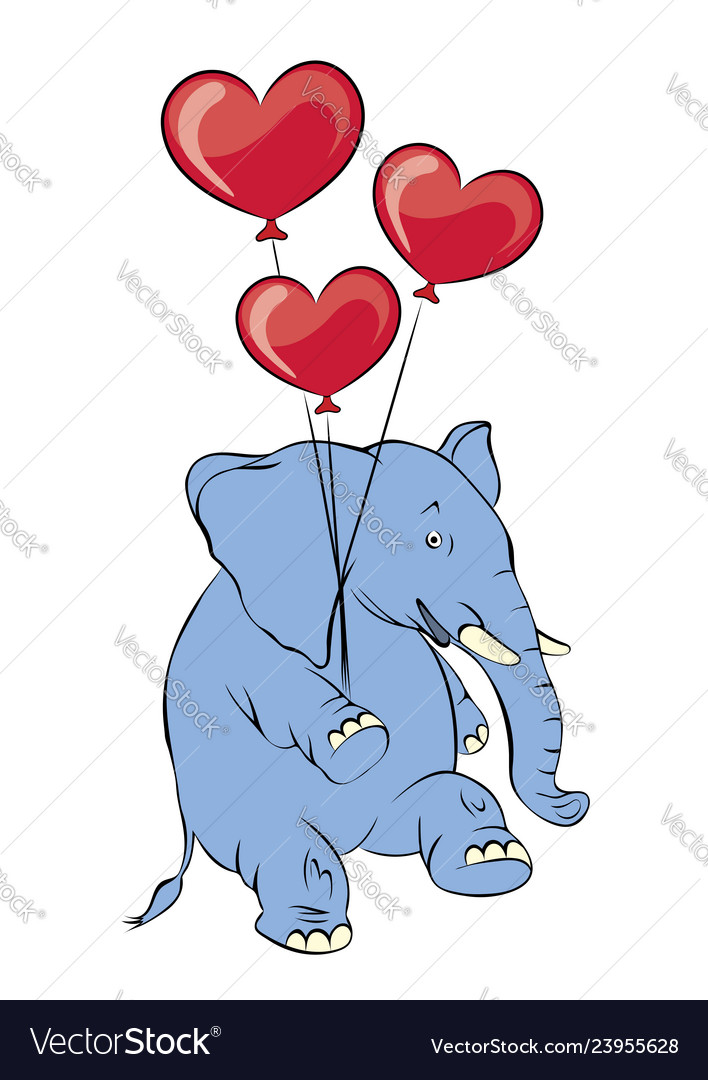 A cheerful pink elephant with balloons in the