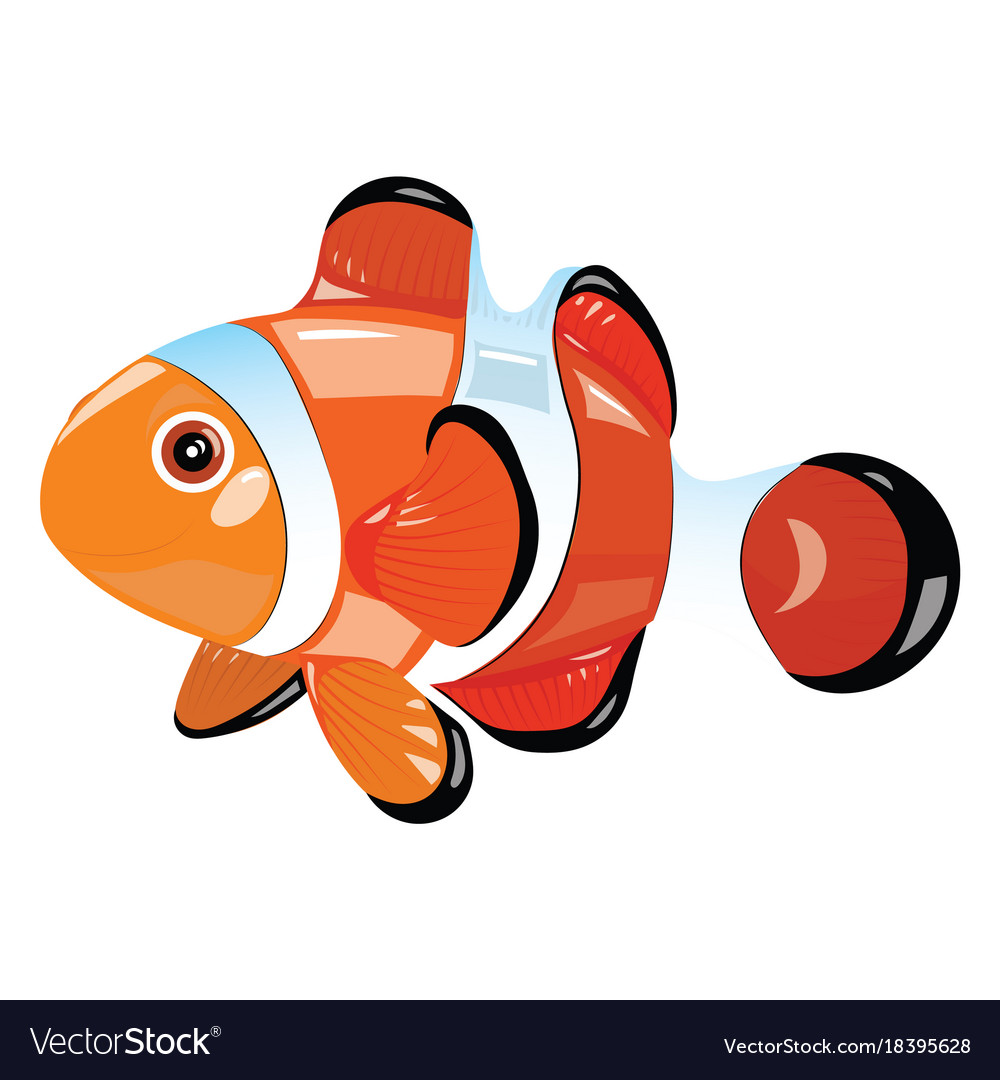 Cartoon fish funny sea fish Royalty Free Vector Image