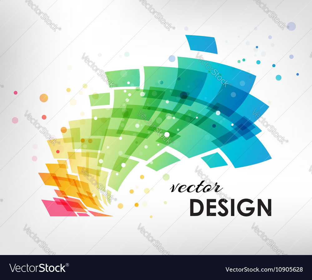 Colorful design element on white background