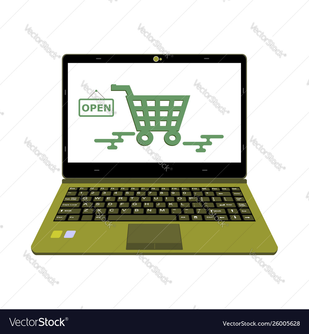 Laptop for online shop payment