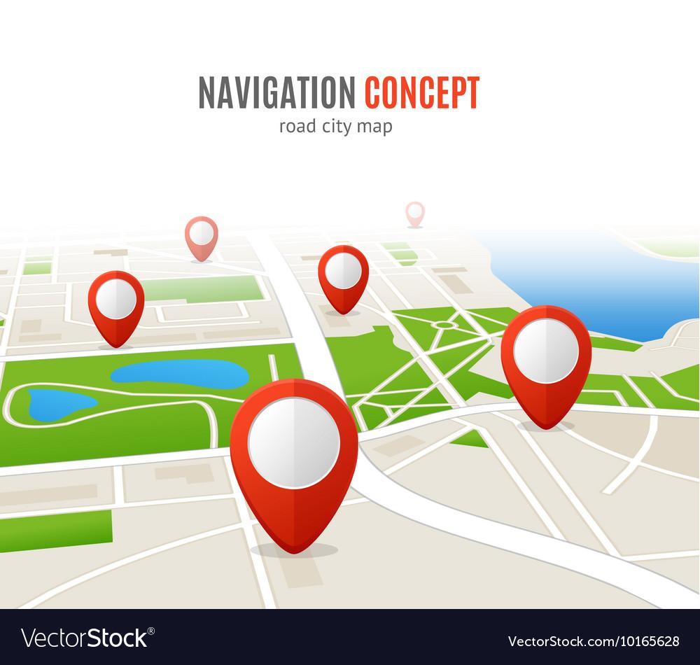 Navigation Concept Road City Map