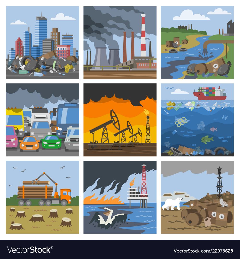 Pollution environment polluted air smog or
